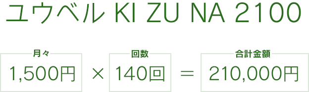 ユウベル KI ZU NA 2100